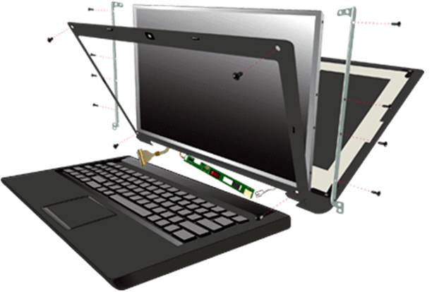تعمیر و تعویض ال سی دی لپ تاپ
