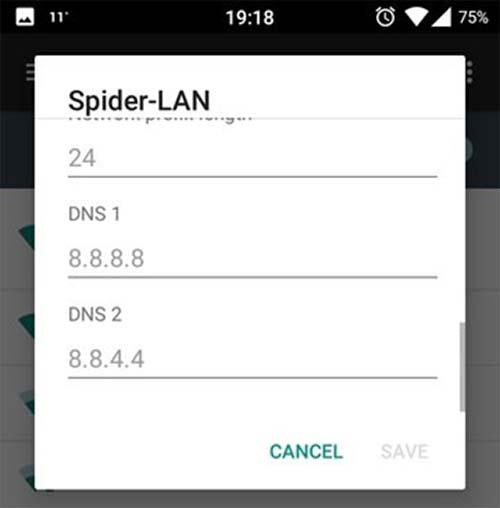 تغییر DNS در گوشی های اندرویدی