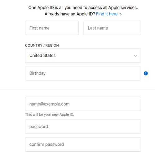 گام دوم apple ID