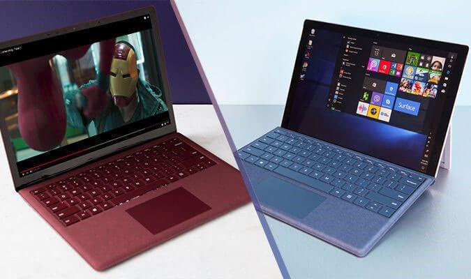 تفاوت سرفیس پرو با سرفیس لپ تاپ