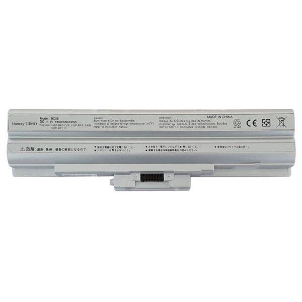 باتری لپ تاپ سونی BPS13-6Cell نقرهای