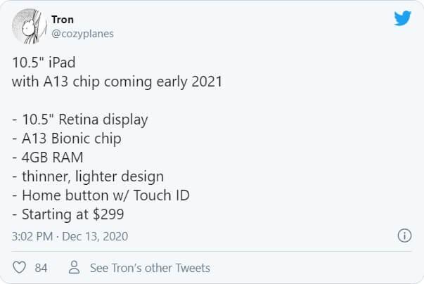 آیپد 10.5 اینچی 2021 ، آیپد 10.5 اینچی