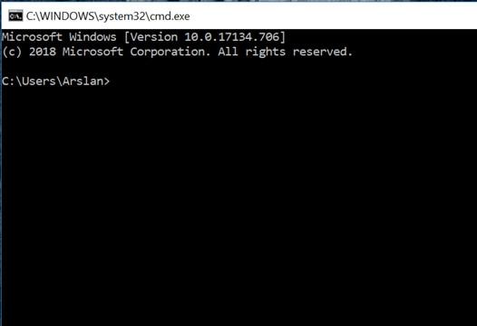 باز شدن پنجره سیاه در لپ تاپ