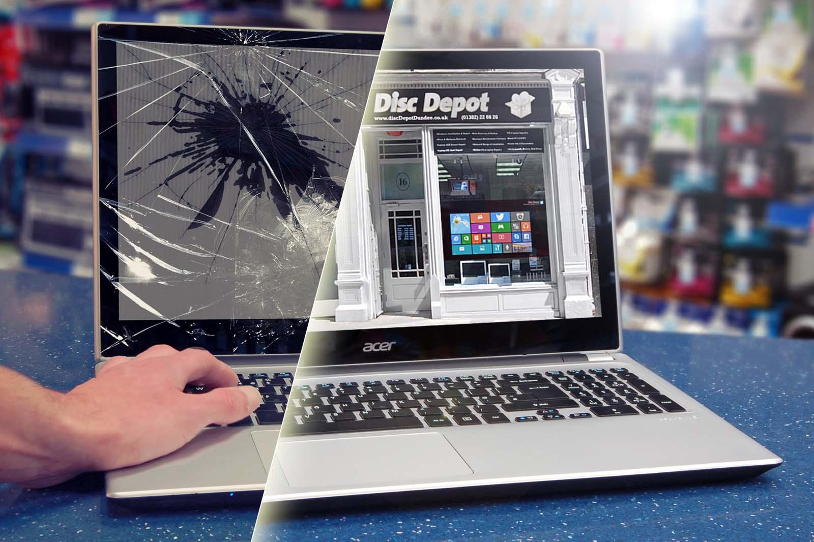 برای تعمیر یا تعویض صفحه لپ تاپ چه کنیم